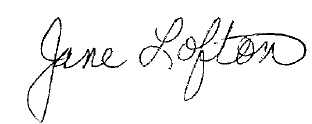 jane lofton signature